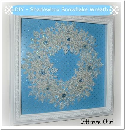 DIY Snowflake Wreath Title